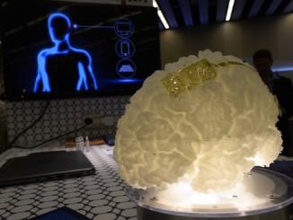 Prototip d'interfície cervell-màquina al pavelló del grafè del Mobile World Congress. - Foto: ICFO/R.Josa