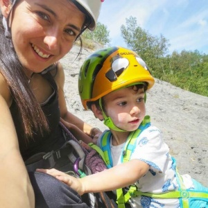 Laura Montero amb el seu fill Gael