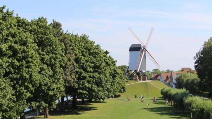 Un dels molins a les afores de Bruges - Foto: YouMeKids
