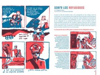 Article sobre els refugiats publicat a la revista núm. 4 - Foto: Revista ¡La Leche!