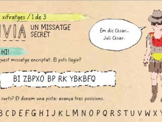 Missatge encriptat escrit fent servir el xifratge de Juli César - Foto: Librooks
