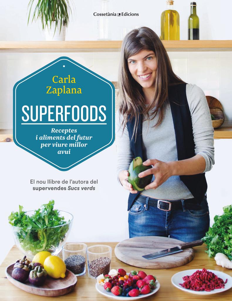 """El llibre """"Superfoods"""" on trobareu les receptes proposades - Foto: Guillem Trius"""
