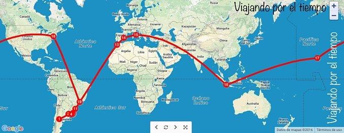 Ruta inicial de Lucrecia i Fede - Foto: Viajando por el mundo