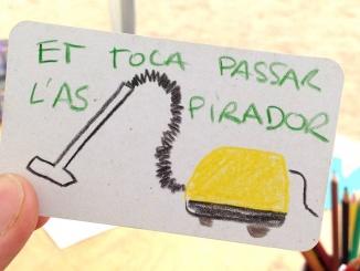 Carta amb norma inventada del joc Pillut - Foto: Los Cuscusianos