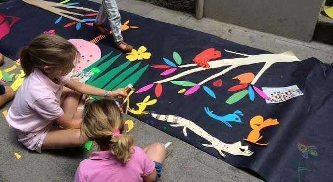 "Taller ""Paint the street"" organitzat per la Plom Gallery - Foto: Plom Gallery"