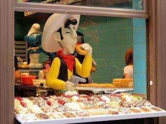 Le Funambule, gofres a l'estil belga amb els personatges del còmic com a protagonistes. Foto: YouMekKds