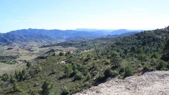 Vistes des del GR174 entre Sant Joan de Codolar i albarca