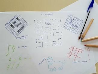 cinc jocs amb bolígraf o llapis i paper