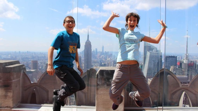 L'Empire State vist des de la terrassa del Rockefeller Center a Nova York - foto: YouMeKids