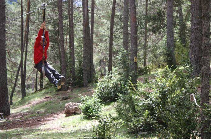Tirolines pedraforca aventura parc