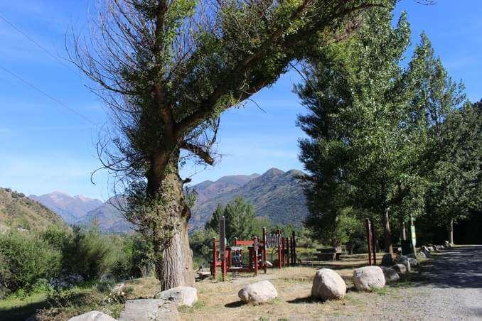 Zona d'esport de l'àrea de pícnic de la Mollera de l'Escalarre